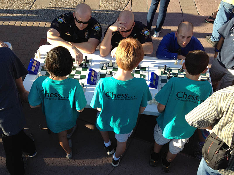 DeMiguel Chess club versus Flagstaff Police Department in Blitz Chess
